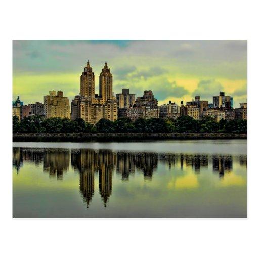 Horizonte del Central Park de New York City Tarjetas Postales