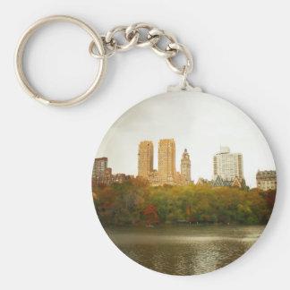 Horizonte del Central Park, New York City Llavero Redondo Tipo Pin