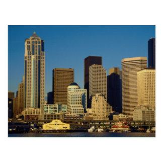 Horizonte del centro de ciudad Seattle Washingto Tarjeta Postal