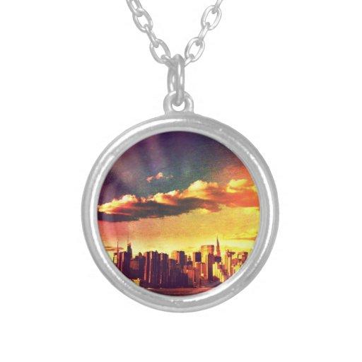 Horizonte del cuento de hadas de Nueva York - arco Colgante Redondo