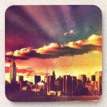 Horizonte del cuento de hadas de Nueva York - arco Posavasos De Bebida