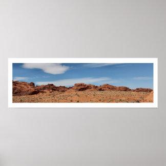 Horizonte del desierto de Nevada panorámico Posters