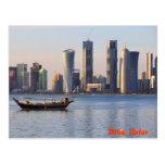 Horizonte del Dhow y de Doha Postal