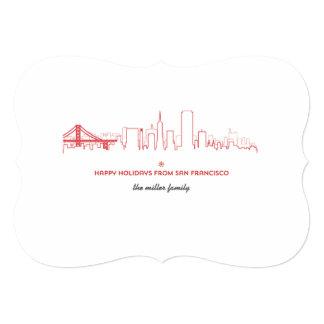 """Horizonte del día de fiesta de San Francisco Invitación 5"""" X 7"""""""