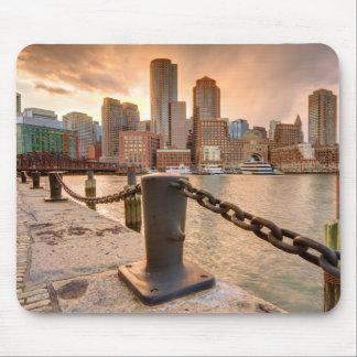 Horizonte del distrito financiero de Boston Mouse Pads