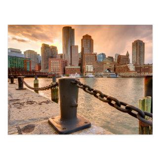 Horizonte del distrito financiero de Boston Postales