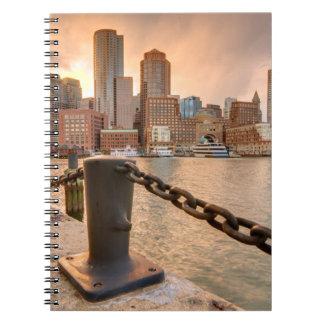 Horizonte del distrito financiero de Boston Spiral Notebook