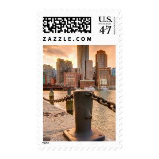 Horizonte del distrito financiero de Boston Timbres Postales