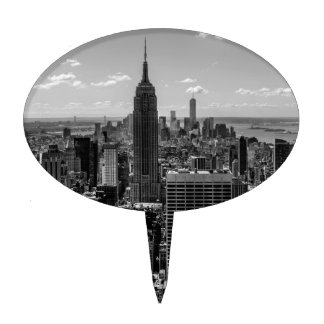 Horizonte del Empire State Building de New York Ci Decoración Para Tarta