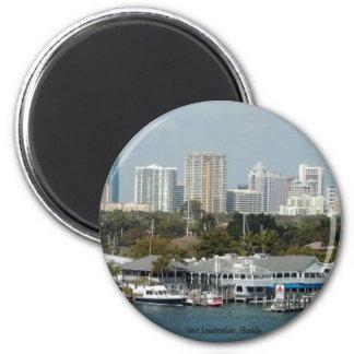 Horizonte del Fort Lauderdale Imán Redondo 5 Cm