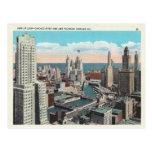Horizonte del lazo de Chicago del vintage Postales