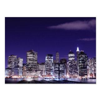 """Horizonte del Lower Manhattan, New York City Invitación 5.5"""" X 7.5"""""""