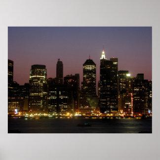 Horizonte del Lower Manhattan - Nueva York, Nueva  Póster