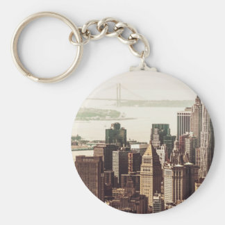 Horizonte del Lower Manhattan - visión desde el Mi Llaveros