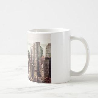 Horizonte del Lower Manhattan - visión desde el Mi Taza Básica Blanca