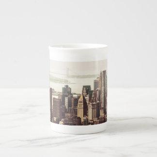 Horizonte del Lower Manhattan - visión desde el Mi Taza De Porcelana