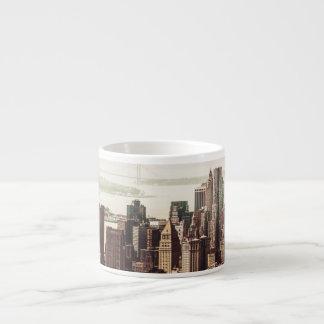 Horizonte del Lower Manhattan - visión desde el Taza Espresso