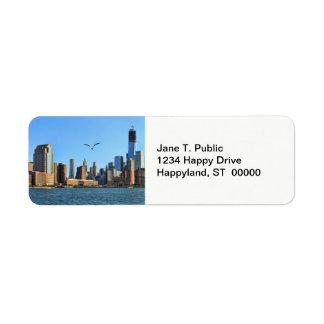 Horizonte del Lower Manhattan: WTC, Woolworth Etiquetas De Remite