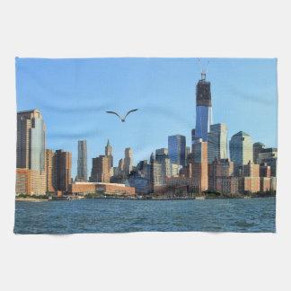 Horizonte del Lower Manhattan: WTC, Woolworth Toalla