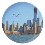 Horizonte del Lower Manhattan: WTC, Woolworth Platos De Comidas