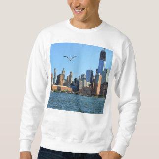 Horizonte del Lower Manhattan: WTC, Woolworth Sudadera Con Capucha