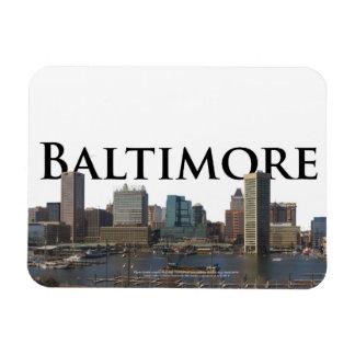 Horizonte del MD de Baltimore con Baltimore en el  Imanes