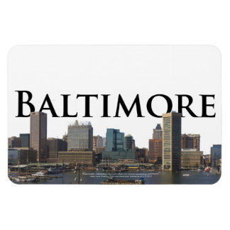 Horizonte del MD de Baltimore con Baltimore en el  Imán Rectangular