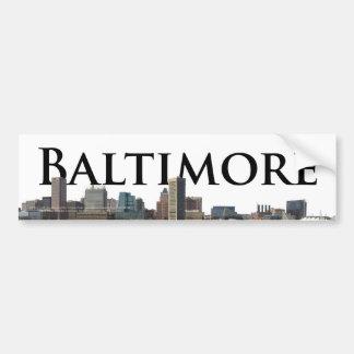 Horizonte del MD de Baltimore con Baltimore en el  Pegatina Para Auto