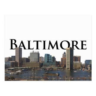 Horizonte del MD de Baltimore con Baltimore en el  Postal