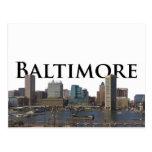 Horizonte del MD de Baltimore con Baltimore en el Tarjetas Postales