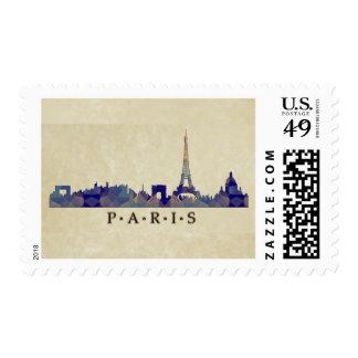 Horizonte del mosaico del polígono de París Sello