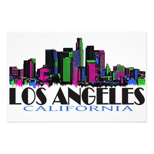 Horizonte del neón de Los Ángeles California Papeleria