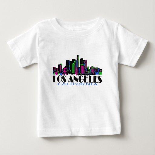 Horizonte del neón de Los Ángeles California T-shirts