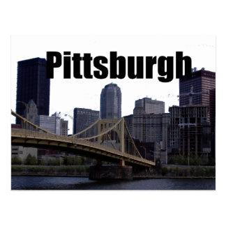 Horizonte del PA de Pittsburgh con Pittsburgh en e Postales