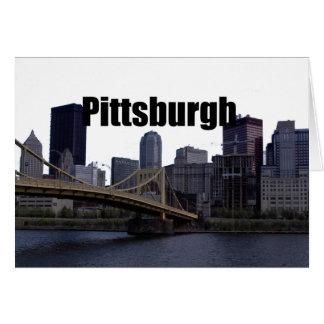 Horizonte del PA de Pittsburgh con Pittsburgh en Tarjeta De Felicitación