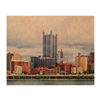 Horizonte del PA de Pittsburgh Impresión En Corcho