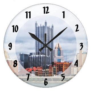 Horizonte del PA de Pittsburgh Reloj Redondo Grande