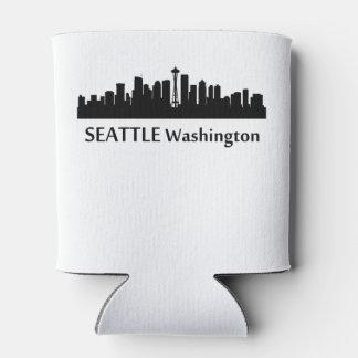 Horizonte del paisaje urbano de Seattle Enfriador De Latas