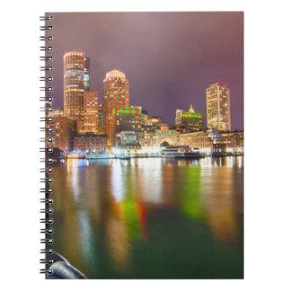 Horizonte del puerto de Boston Spiral Notebook