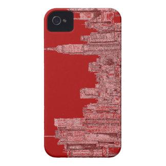 Horizonte del rojo de Nueva York iPhone 4 Case-Mate Protectores