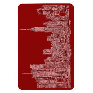 Horizonte del rojo de Nueva York Iman Flexible