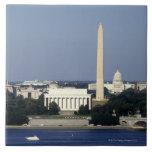 Horizonte del Washington DC con el capitolio de lo Azulejo Cuadrado Grande