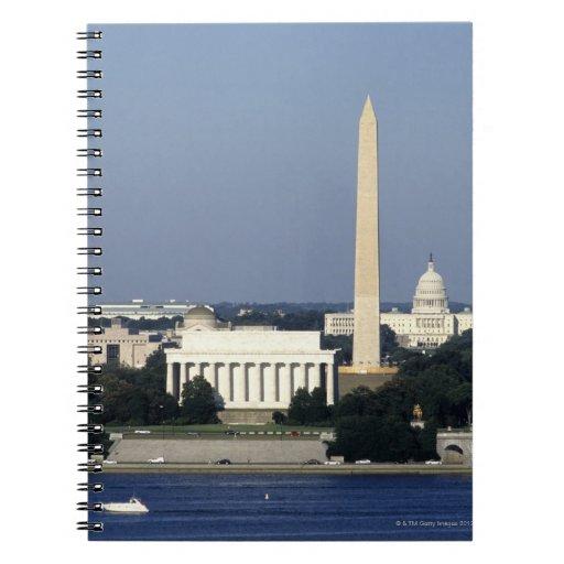Horizonte del Washington DC con el capitolio de lo Libretas