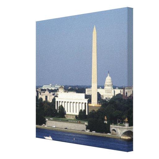 Horizonte del Washington DC con el capitolio de lo Lienzo Envuelto Para Galerias