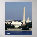 Horizonte del Washington DC con el capitolio de lo Póster