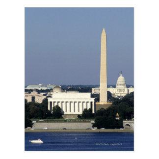 Horizonte del Washington DC con el capitolio de Tarjetas Postales