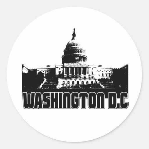 Horizonte del Washington DC Etiquetas Redondas