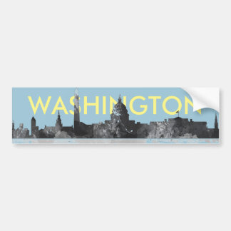 HORIZONTE DEL WASHINGTON DC PEGATINA PARA AUTO