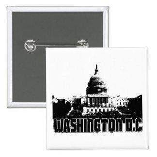 Horizonte del Washington DC Pin Cuadrado