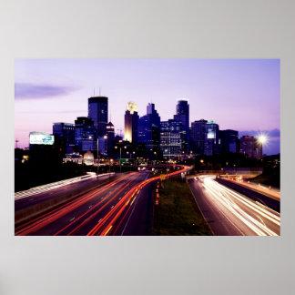 Horizonte en la oscuridad, Minneapolis, Minnesota Impresiones